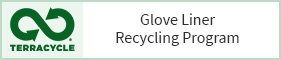 Glove liner recycling button