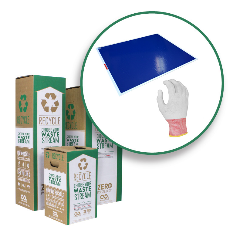 TerraCycle boxes and recyclable glove and mat